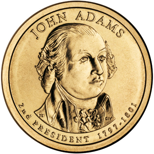2007P $1 J. Adams 25-Coin Roll