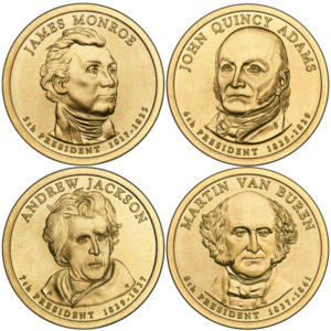 2008P $1 Presidential 4-Coin Set