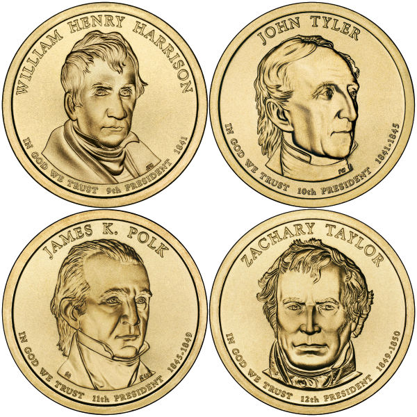 2009P $1 Presidential 4-Coin Set
