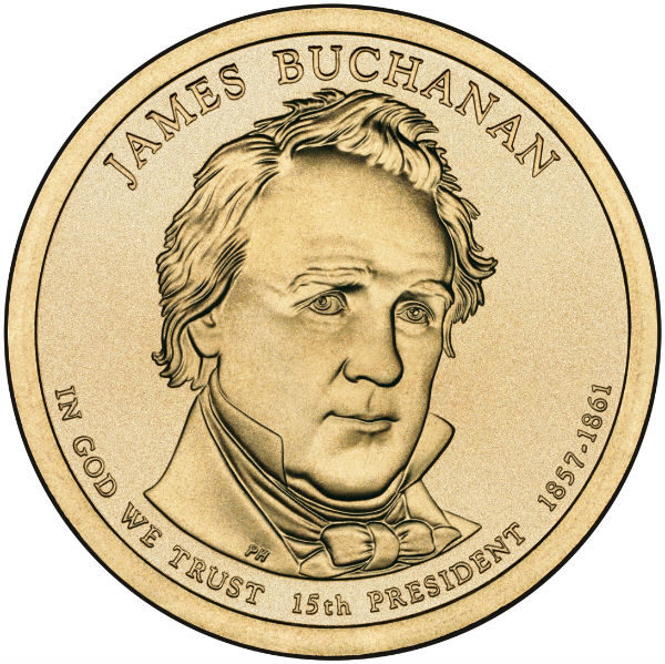 2010P $1 Buchanan 25-Coin Roll