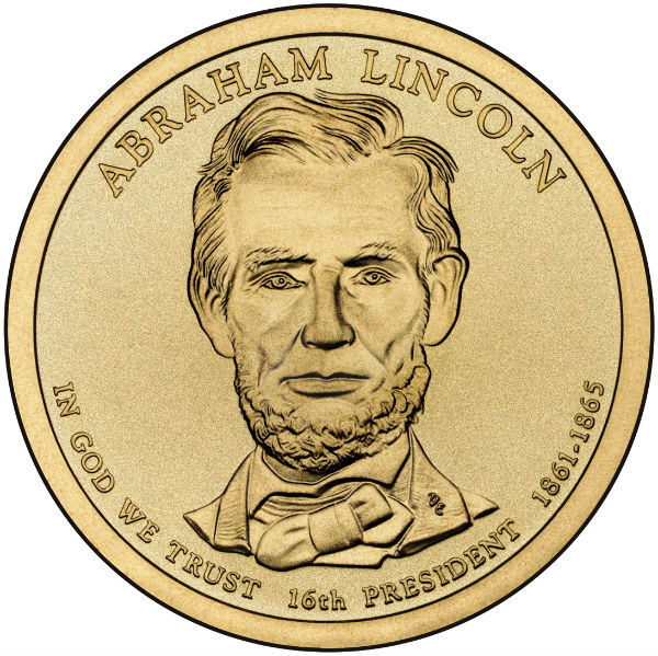 2010P $1 Lincoln 25-Coin Roll