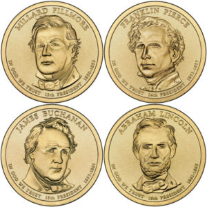 2010P $1 Presidential 4-Coin Set