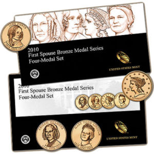 2010-first-spouse-bronze-4-medal-set
