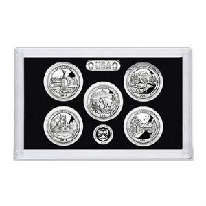 2011S 5-piece quarter Silver Proof set