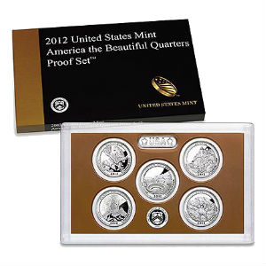 2012S 5-piece quarter Proof set
