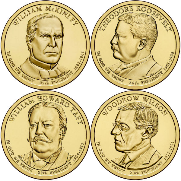 2013P $1 Presidential 4-Coin Set