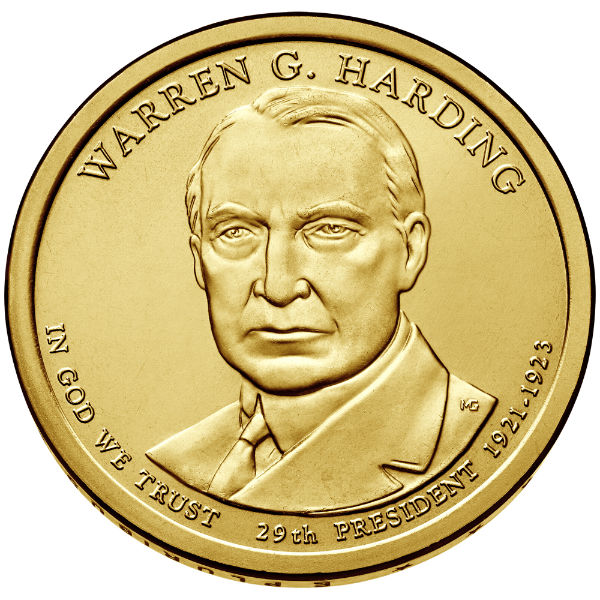 2014P $1 Harding 25-Coin Roll