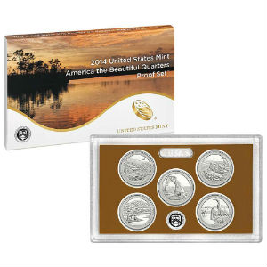 2014S 5-piece quarter Proof set