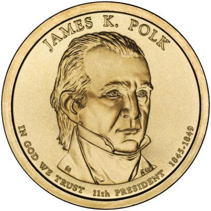 2009P $1 Polk 25-Coin Roll