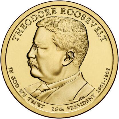 2013D $1 T. Roosevelt 25-Coin Roll