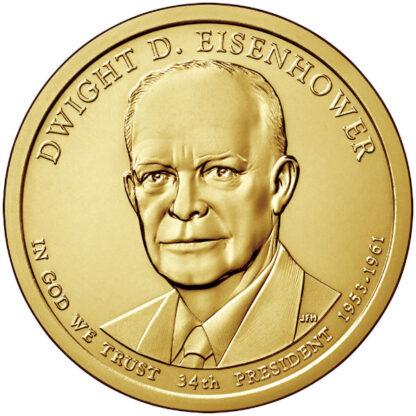2015P $1 Eisenhower 25-Coin Roll